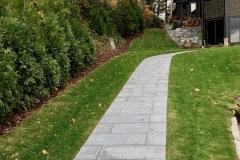 sideyard walkway:screening