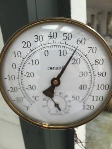 Unusually warm Lakes Region NH temperatures